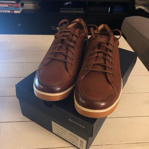 Cole Haan Berkley Sneaker British Tan Casual Leather Shoe sz 9.5,10,10.5,11